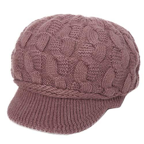 YONKINY Gorro de Punto Cálido Invierno Boina de Mujeres Niña Crochet Elegante Sombrero de Vendedor...
