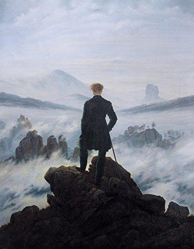 Berkin Arts Caspar David Friedrich Giclee Kunstdruckpapier Kunstdruck Kunstwerke Gemälde Reproduktion Poster Drucken(Wanderer über dem Nebelmeer)