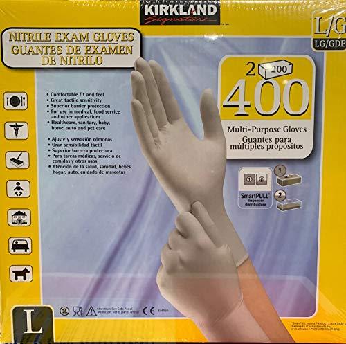 Kirkland Nitrile Exam Gloves 400 Large Multi Purpose Latex Free