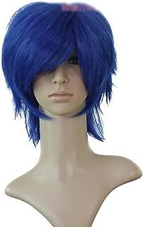 HOOLAZA Blue Short Straight Bangs Anti Alice Cosplay Wig 30Cm Fairy Tail Jellal Fernandes Cosplay Wig