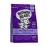 Meowing Heads Barking Heads Comida Seca para Crías De Gato - Smitten Kitten - 100% Natural, Salmón Y Pollo Sin Aromas Artificiales, Ayuda A Mejorar El Desarrollo Cerebral Saludable, 450 G 450 g