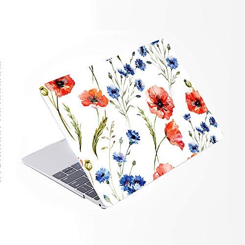 SDH Funda para MacBook Pro de 15 pulgadas 2019 2018 2017 2016 lanzamiento A1990 A1707,piel de teclado degradado compatible con Mac bookPro 15 Touch Bar & ID, Plant Leaves 7