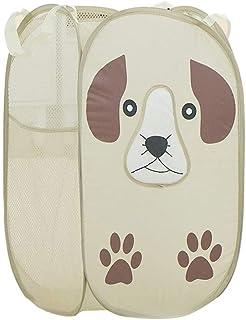 Phonleya Cesto de lavandería plegable - Cesto de almacenamiento de ropa sucia portátil estilo perro Cortoon de gran capaci...