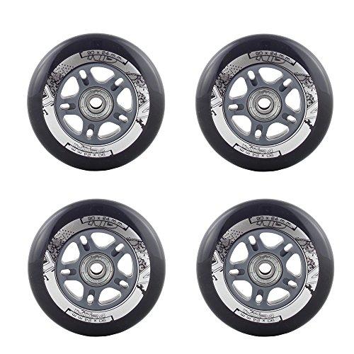 Rollen Inlineskates Wheels & Kugellager Rollschuhe 4 Stück PU 90x24 82A schwarz