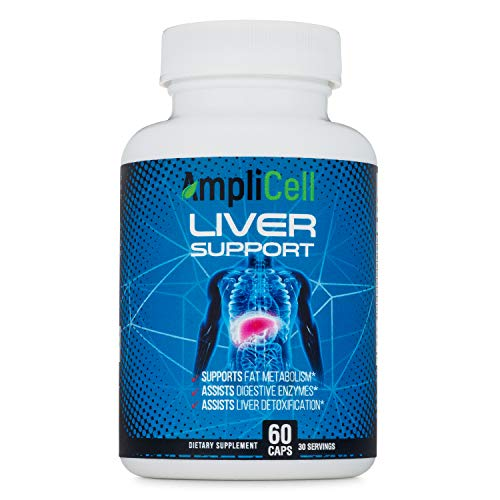 Amplicell Liver Cleanse   Liver Support Supplement, Detox and Repair Formula   with Zinc, Milk Thistle, Beetroot, Artichoke and Dandelion   Natural Herbal Supplements   60 Vegetarian Capsules