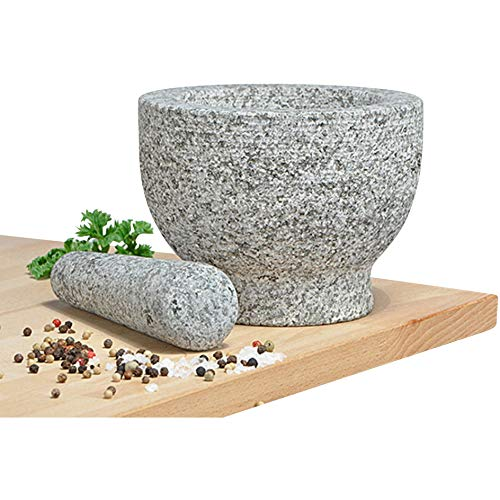 Mörser mit Stößel aus Granit 14074