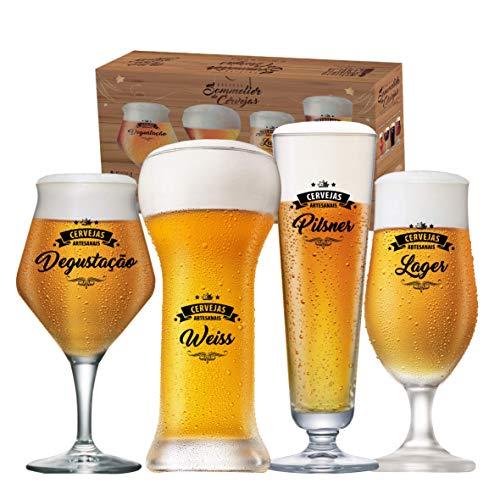 Conjunto Beer Sommelier Cervejas Claras 4 Peças