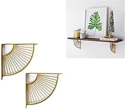 SUNEVEN Metalen Craft Beugel Plank Rek Muur Opknoping Decoratie Sector Beugel Moderne Iron Art Stand voor Home Office Rest...