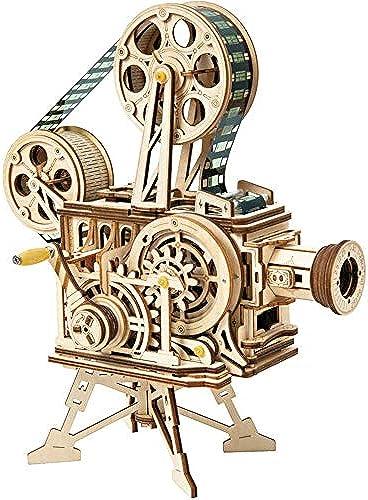 EP-Toy 3D Laserschneiden Holzpuzzle Modell, Kreative Retro Vintage Handprojektor Projektor Mechanische Projektionsfolie (183 Stücke, 9,2 X 5,3  X 10,1 )
