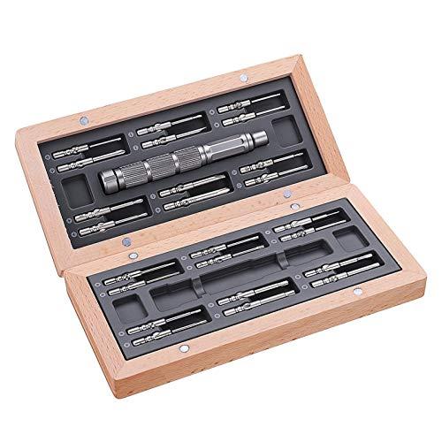 LOMAX Preciso Destornillador de precisión, Herramienta de reparación de Destornillador de precisión Multifuncional 24 en 1 con Memoria magnética Herramientas para el hogar (Color : Black)