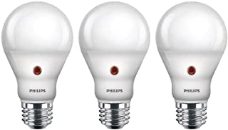 Philips LED Dusk-to-Dawn A19 Frosted Light Bulb: 800-Lumen, 2700-Kelvin, 8-Watt (60-Watt..