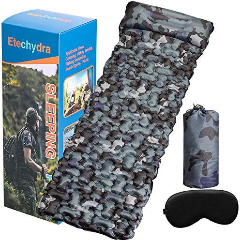 Etechydra Isomatte Camping Selbstaufblasbare, Aufblasbare Rucksackmatte Campingmatte,Isomatte Outdoor Ultraleicht Aufblasbare Isomatte für Backpacking Rucksacktouren, Camping & Wandern