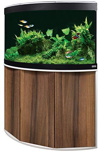 Aquariumkombination Fluval Venezia 190 mit LED Beleuchtung, Heizer, Filter und Unterschrank Noce Tiepolo