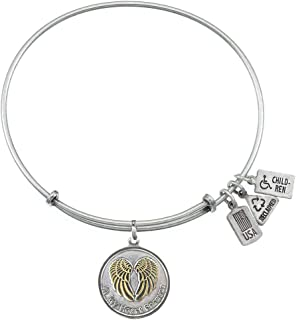 Antique Silver Wind and Fire in My Heart Forever Charm with Bangle