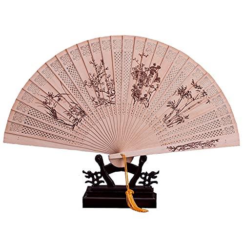 Ventilador Ventilador de Bambú, Caja de Regalo China Plegable, Utilizado Para Decoración...