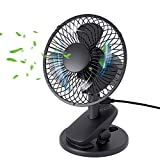Best Clip Fans - YIHUNION Oscillating Desk Clip on USB Fan, 2 Review