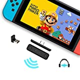 GuliKit Route Air Bluetooth Audio USB Adapter Transmitter for Nintendo Switch & Lite & PS4, USB-C to A Wireless Connector, Easy to Connect with Airpods and All Bluetooth Speakers/Headphones(Black)