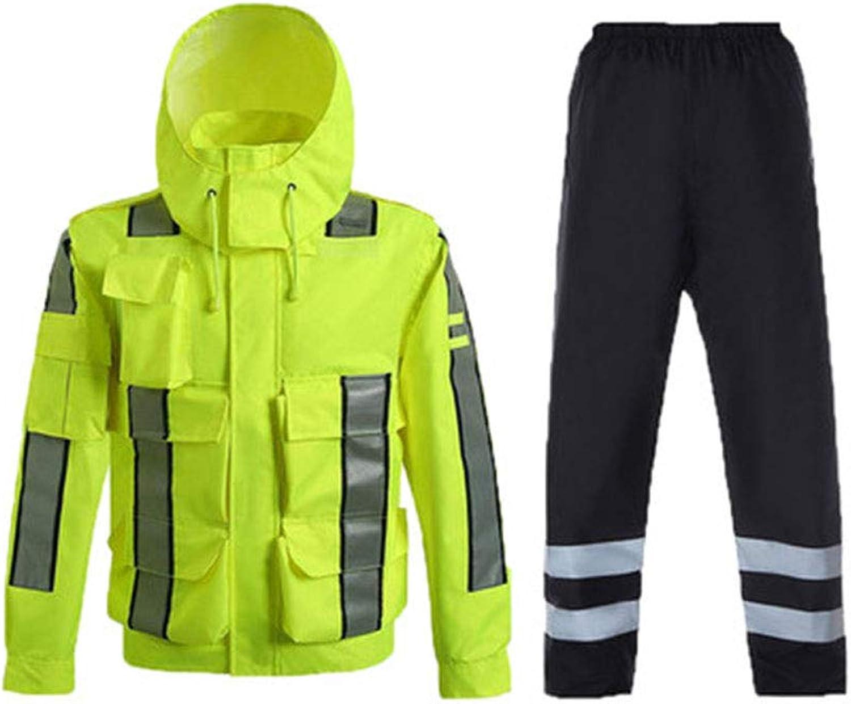 LIYONG Rain Poncho, Raincoat Yellow Waterproof Slicker Split Thick Poncho Reusable Durable