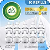 Air Wick plug in Scented Oil 10 Refills, Fresh Linen, Same familiar Smell of Fresh Laundry, Eco friendly, Essential...