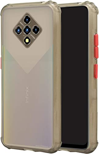 Jkobi Rubberised Soft Shockproof Smoke Back Cover Case For Infinix Zero 8I Grey