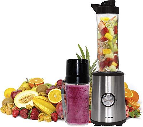 Licuadora de Vaso Individual Botella portátil + Botella al vacío Vital Way Vac de Axsom, Licuadora para Frutas y Verduras con Dos Velocidades Batidora para Fruta Portátil. batidora Vaso Individual