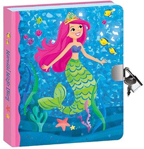 Sparkle Foil Mermaid Lock & Key Journal