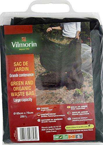 Vilmorin VI00104 Sac de Jardin Grande Contenance Polyéthylène 250 L 65 x 75 cm