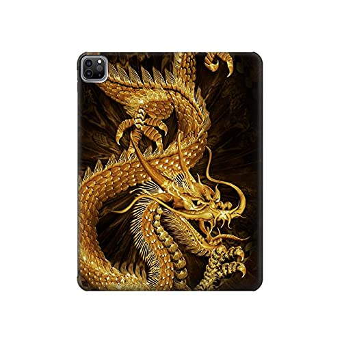 Innovedesire Chinese Gold Dragon Printed Tablet Case Cover Custodia per iPad PRO 12.9 (2021)