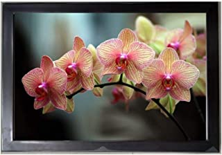 Beautiful Pink Flower Frame Wall Art with Acrylic Glass Painting 14x20