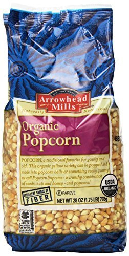 Lowest Prices! Arrowhead Mills Organic Yellow Popcorn, 28 Ounce (Pack of 6) by Arrowhead Mills