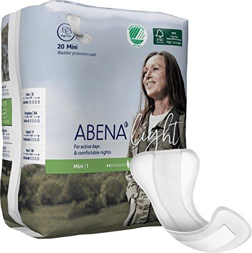 Abena lumière Abena Light Mini 1pour incontinence légère (180ml) Coque de 16Paquets X