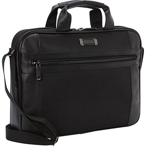 "Kenneth Cole Reaction 15.6"" Slim Top Zip Laptop Bag, Black One Size"