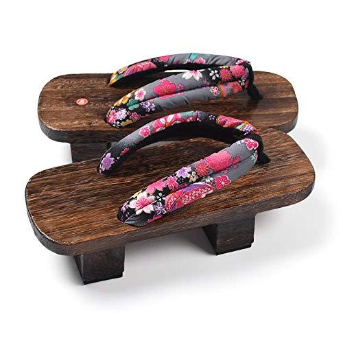 X Zapatos Tradicionales Japoneses Informal Paulownia Madera Geta Zuecos Oriental China De Verano Chancletas Pisos Hombre Al Aire Libre Sandalias Se avete domande circa le dimensioni, vi prego di
