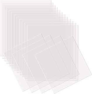 Kuqqi 24 Pieces 4 mil Square Blank Stencil Material Mylar Template Sheets for Stencils, 12 x 12 Inches