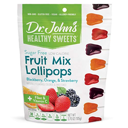 Dr. John's Healthy Sweets Sugar-Free Fruit Mix Tooth Lollipops (3.85 OZ)