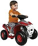 FEBER Dodger - Quad électrique pour enfants de 18 mois à 3 ans, 6V, Rouge (Famosa 800007510)