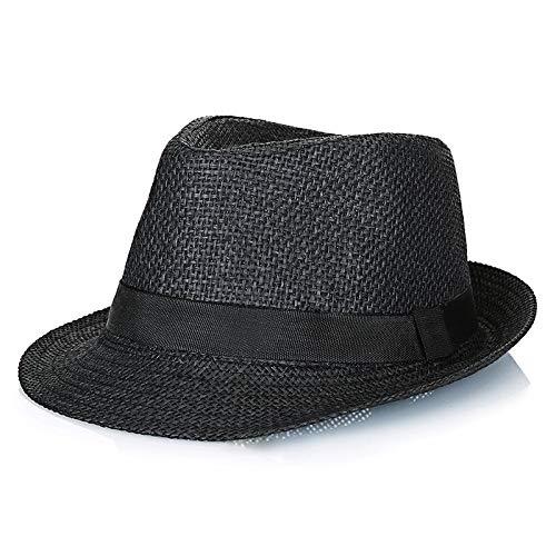 Sombrero para Hombre 2020 Verano versión Coreana de Papel de Lino Paja Transpirable refrescante pequeño Sombrero de Copa Sitio de construcción Sombrero para el Sol