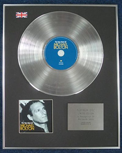 MICHAEL BOLTON - Limited Edition CD Platinum LP Disc - THE VERY BEST OF