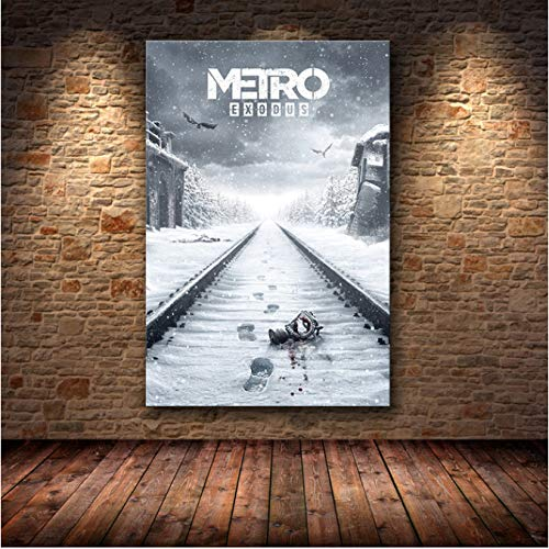 H/L Metro Exodus Game Poster Artwork Canvas Painting Wall Art Home Decoration Poster For Living Room Print Posters And Prints 50X70Cm -Pd912