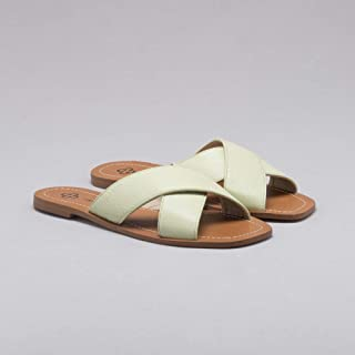Chinelo Couro Baby Green