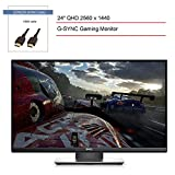 2020 Dell S24 24-Inch Screen LED-Lit TN Gaming Monitor with G-SYNC, QHD 2560 x 1440 Resolution, 165Hz Refresh Rate, 1ms Response Time, 16:9 Aspect Ratio + SPMOR HDMI Cable 3ft