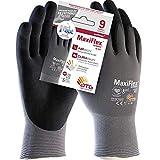 ATG MaxiFlex UltimateTM Ad-Apt A42-874IND-T9 Guante, Talla 9, Gris/Negro