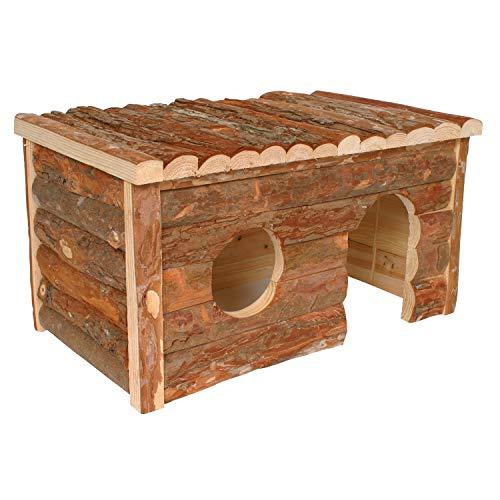 Arquivet Casa para roedores de madera grande - Casa de juego para hamsters, ratas, ardillas - Casita de madera para roedores pequeños - 40 x 23 x 20 cm