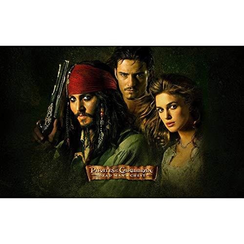 Challenge-Puzzles Puzzle Pirates of the Caribbean: Fluch der Karibik Cover - 300, 500, 1000 Stück Kunstwerk (Size : 300 Piece)