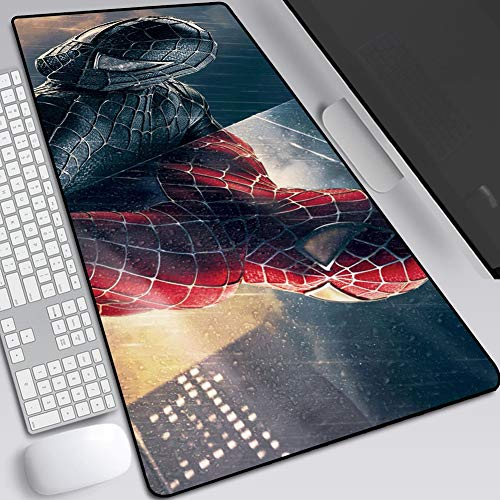 Mouse Pads Marvel Iron Man Spider-Man, Gaming Anime Extended Keyboard Table Mat, Non-Slip Rubber Base, High Sensitivity and Stable Adsorption (Color : B, Size : 400X900X3mm)