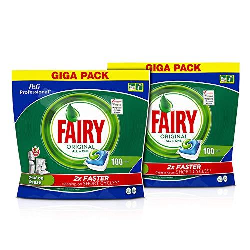 Fairy Profesional Pastillas Lavavajillas Original Todo en 1 - 200 cápsulas (Pack de 2 x 100 lavados)