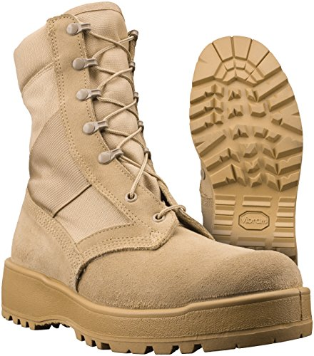 New Made in USA Army Military Combat TAN Flight HOT Weather Desert Boots (5 R)