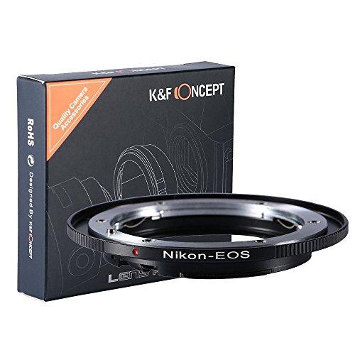 Adaptador AI-EOS, K&F Concept Adaptador de Montura para la Lente Nikon AI AI-S a Canon EOS...