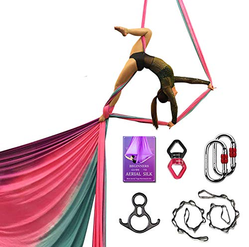 Review Of Aerial Silks Deluxe Equipment Set for Aerial Yoga, Aerial Yoga Hammock, Aerial Acrobatic,C...