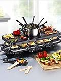 Gourmet Maxx elektr. Raclette Fondue Set Grillplatte Grill Tischgrill aus